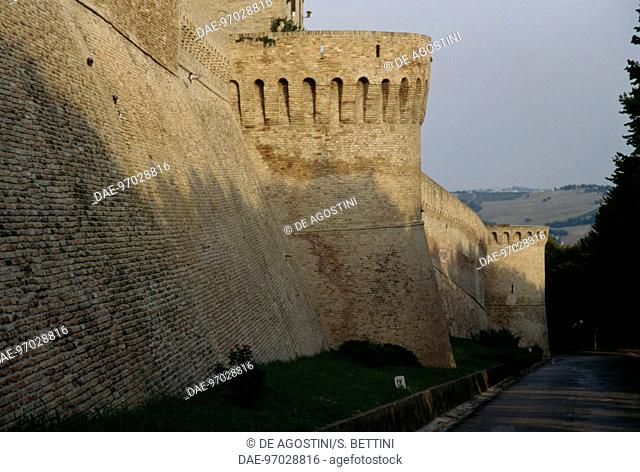Walls with towers, 1366-1490, Corinaldo, Marche. Italy, 14th-15th century