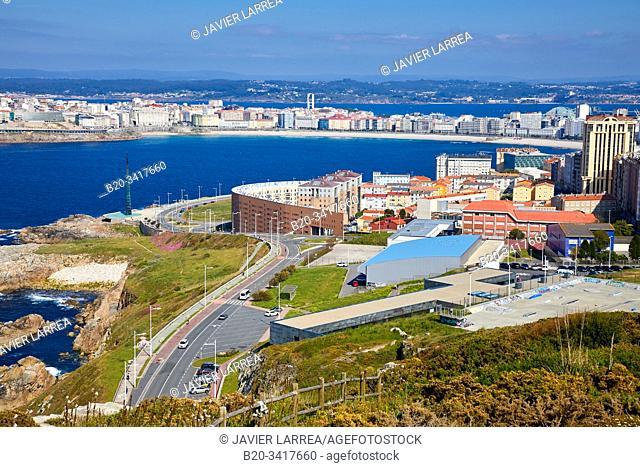 View from Monte de San Pedro, A Coruña, Galicia, Spain