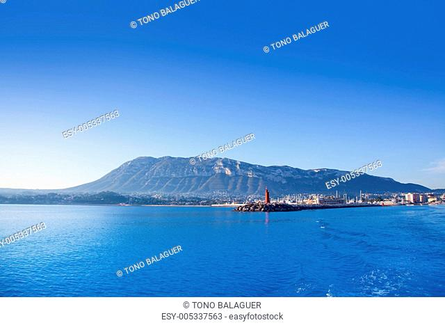Alicante Denia marina on blue mediterranean