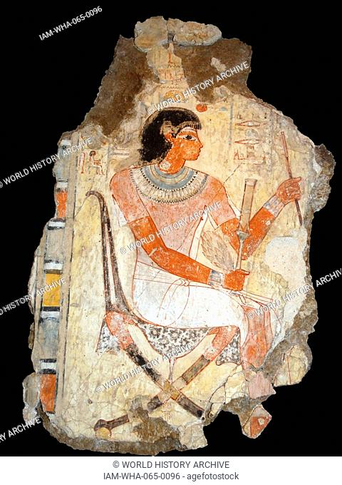 18th Dynasty Fresco, from the tomb of Nebamun, 1350-1370BC