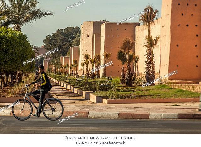Ancient Agdal Garden walls of Marrakech, Morocco