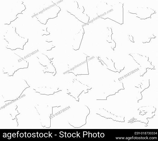 Lebanon-Netherlands 3D White Maps