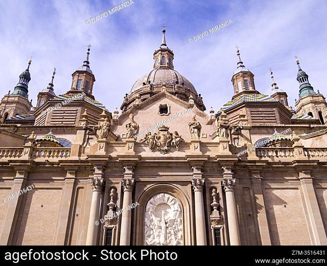 Basílica de Nuestra Señora del Pilar. Zaragoza. Aragón. España