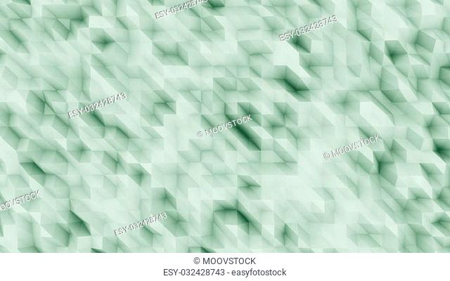 Green abstract polygonal modern backsrop for presentations and reports. Diagonal lines. 3D