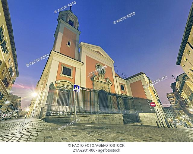 San Lorenzo church at Lavapies neighbourhood. Madrid. Spain