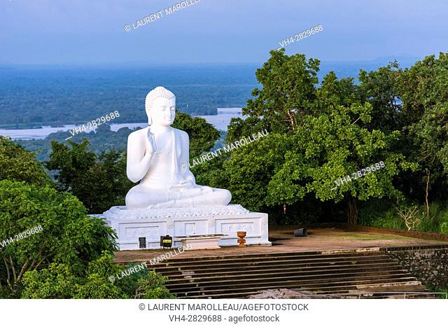 Giant Seated Buddha at Mihintale Monastery, Anuradhapura District, North Central Province, Sri Lanka, Asia