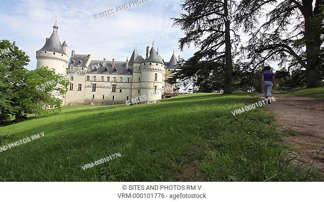 Locked Down Shot, LS. Daylight. Exterior of the Castle and alley. The castle was built in the 10th century by Eudes I Count of Blois