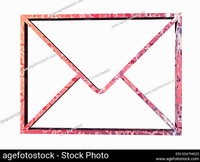 rotes Symbol für Briefverkehr