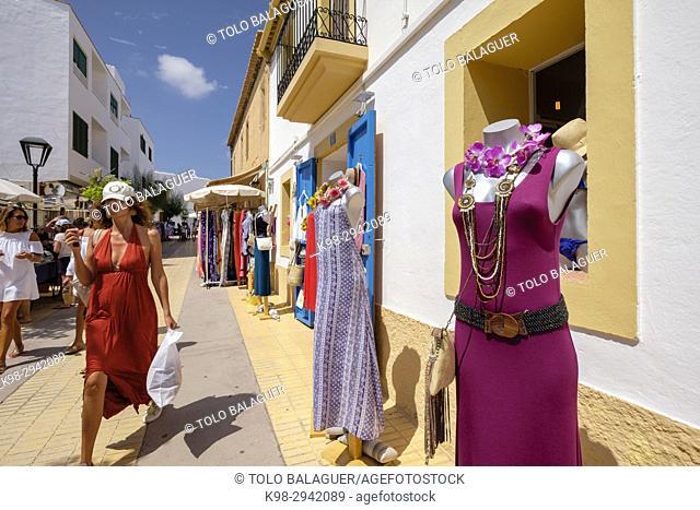 Shopping in Sant Francesc, Formentera, Balearic Islands, Spain