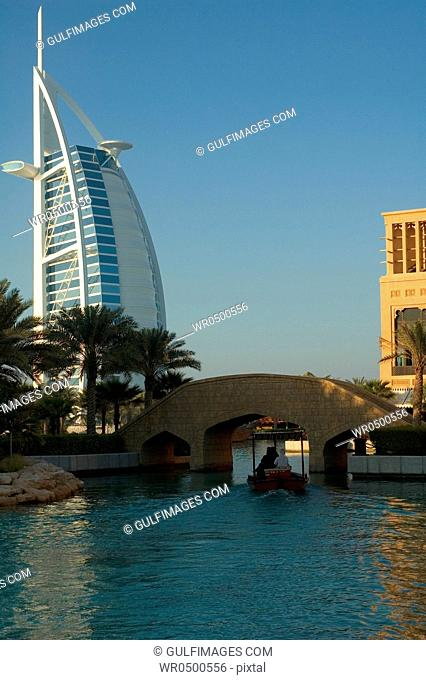 View of Madinat Jumeirah seen from the lake