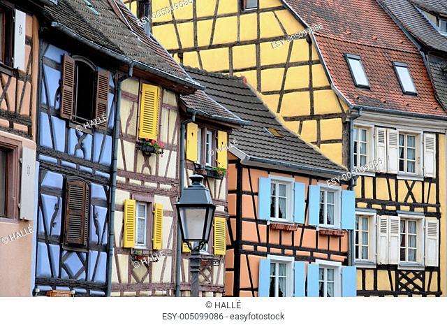 France, Alsace, renaissance house in Colmar