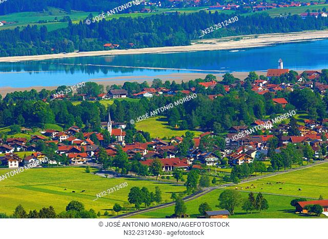 Schwangau, Lake Forggensee, Allgau, Near Fussen, Bavaria, Germany, Europe
