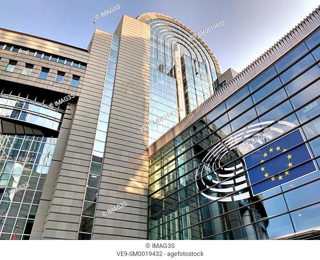 Building of the European Parliament, Brussels, Belgium