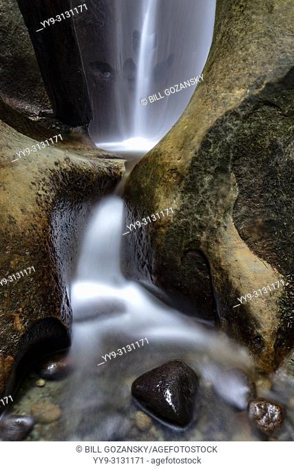 Waterfall near Sombrio Beach, Juan de Fuca Provincial Park - near Port Renfrew, Vancouver Island, British Columbia, Canada