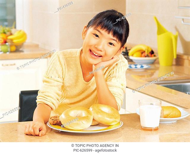 Girl Having Breakfast, Korea