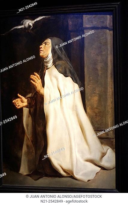 Peter Paul Rubens' Teresa de Avila's Vision of the Dove. Rubenshuis -Rubens house -, Antwerp, Belgium, Europe