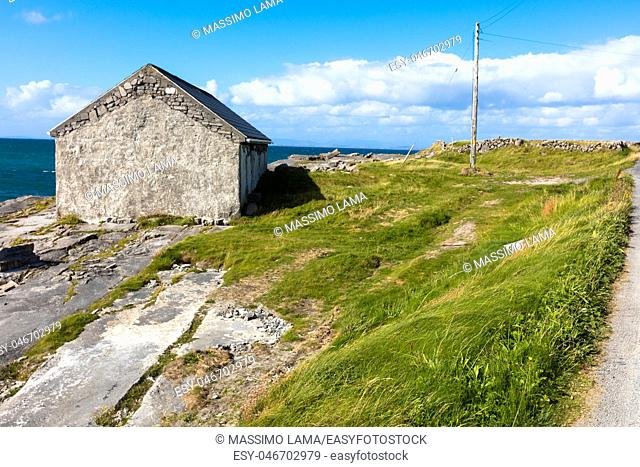 Typical panorama in Inish more, the biggest of Aran Islands, Ireland