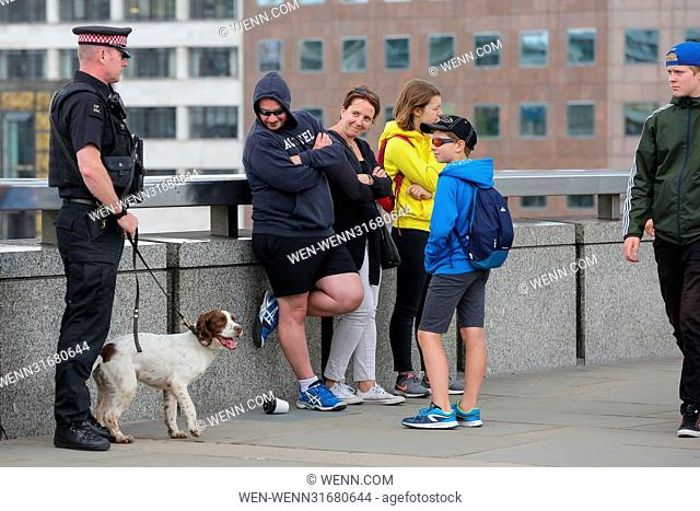 General view near the scene in London Bridge, London, where at least seven members of the public were killed and dozens injured after three attackers on 3 June...