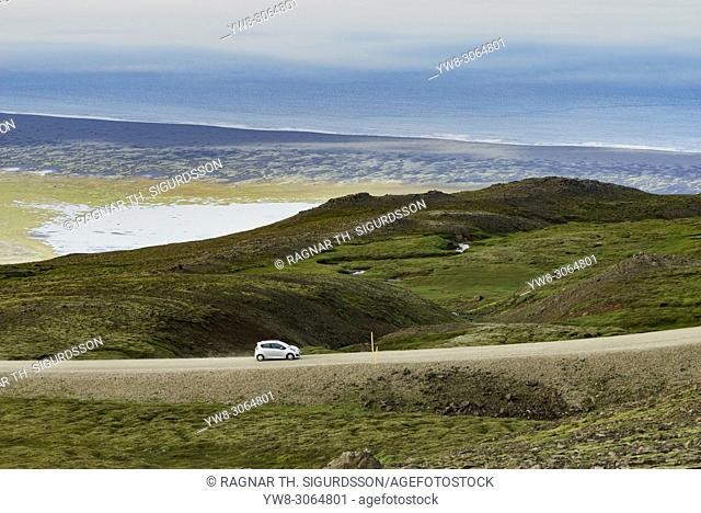 Car on the Ring Road, Eastern Iceland