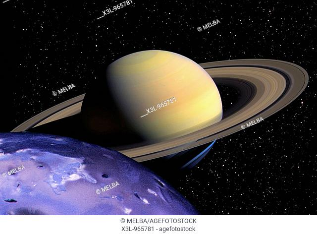 View of Saturn from Saturn's satellite