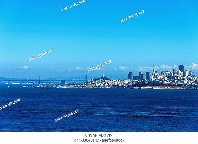 Cityscape of San Francisco, Golden Gate, California, USA