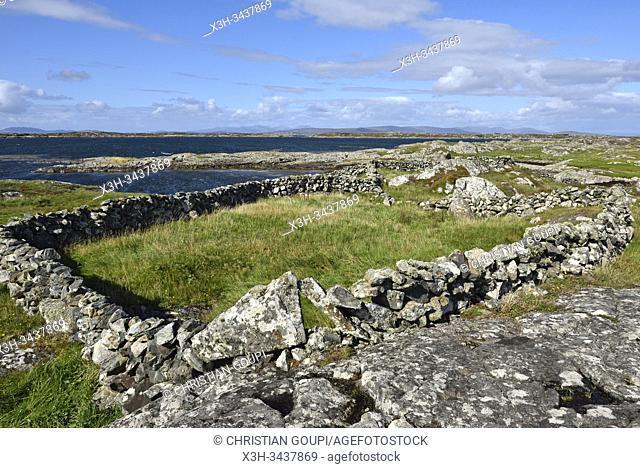 Lettermullan island, west coast, County of Galway, Connemara, Republic of Ireland, North-western Europe