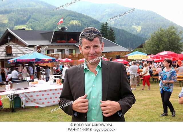 Argentinian-Italian Schlager music singer Semino Rossi poses at the artists meeting prior to ORF TV show 'Wenn die Musi spielt' ('When the music plays') in Bad...