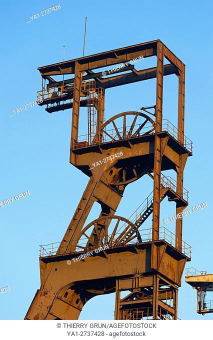 France, Moselle (57), Forbach, Petite Rosselle, Carreau Wendel, Museum Musée Les Mineurs Wendel, old mine shaft Wendel 2