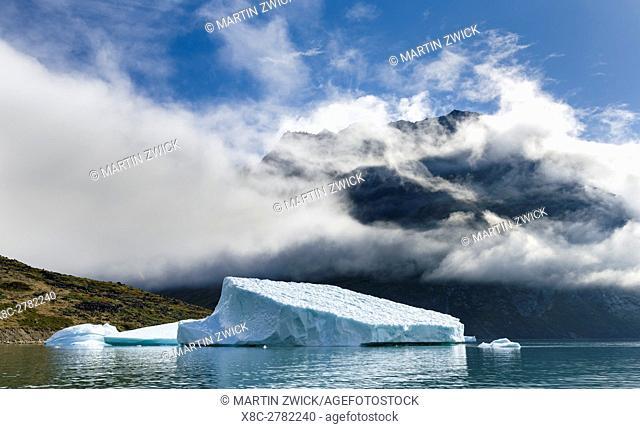 Unartoq Fjord , Puiattukulooq Bay, in southern greenland. America, North America, Greenland, Denmark