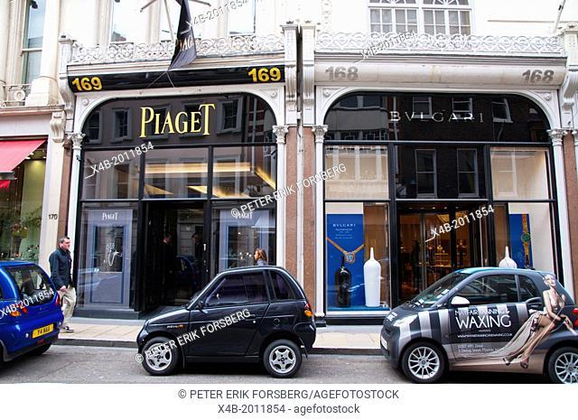 Old Bond street Mayfair central London England Britain UK Europe