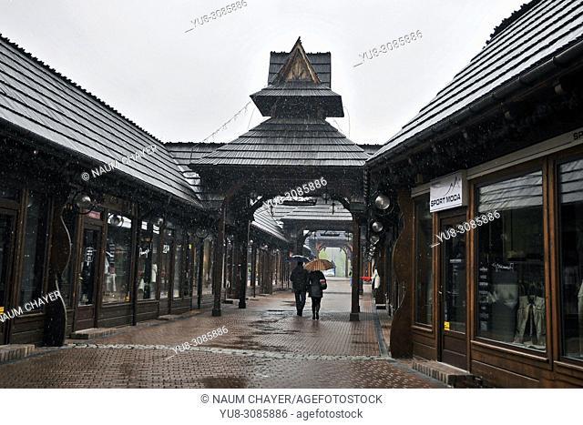 Zakopane-style wooden architecture, Zakopane, Poland, East Europe