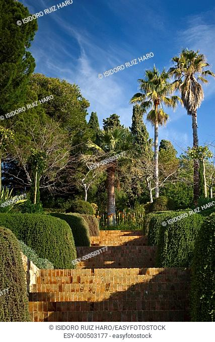 Escaleras de Goethe  Jardin Botánico Mar i Murtra  Blanes Costa Brava  Girona  Catalunya  España