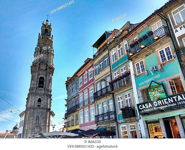 Igreja dos Clérigos and buildings, Rua Campo dos Mártires da Pátria, Porto, Portugal