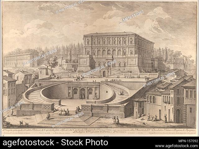 Prospetto principale di Palazzo di Caprarola. Artist: Giuseppe Vasi (Italian, 1710-1782); Architect: Designed by Jacopo [Giacomo] Barozzi da Vignola (Italian