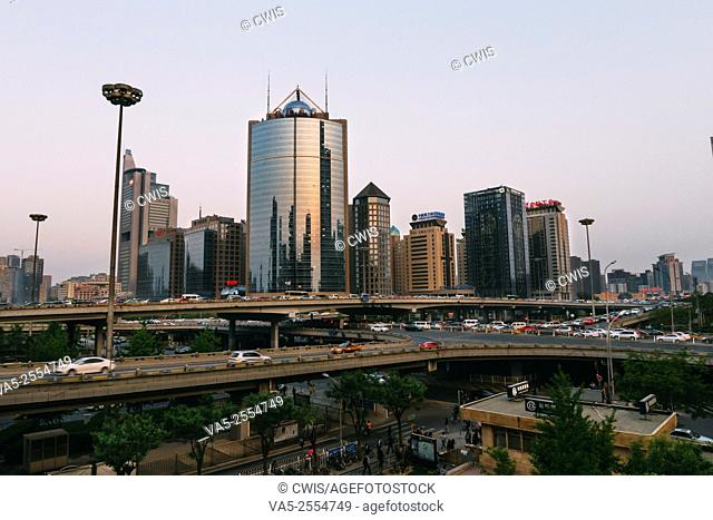 Beijing, China - The view of Beijing CBD in Chaoyang district