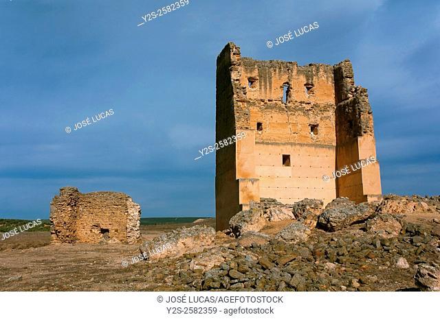 Roman Iberian city of Castulo, Castle of Santa Eufemia, Linares, Jaen province, Region of Andalusia, Spain, Europe