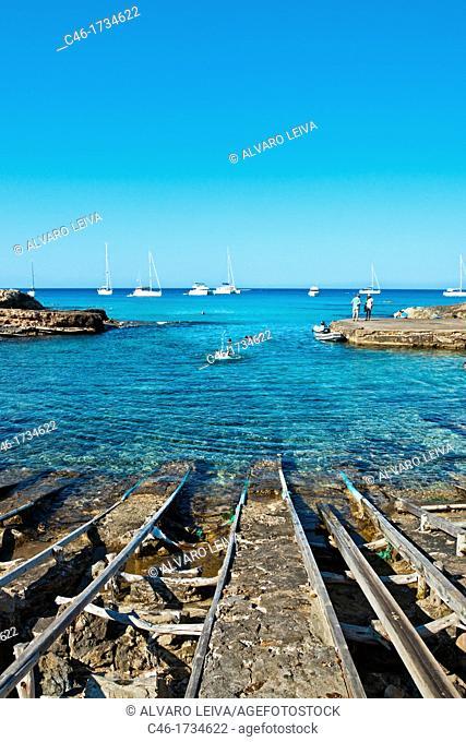 Es Caló of San Agustín, Formentera, Balearic Islands, Spain
