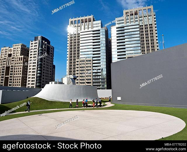Asia, National Taichung Theater, roof, architecture, modern, building, structure, design, culture, rhythm, flow, Japanese architect Toyo Ito, performing arts