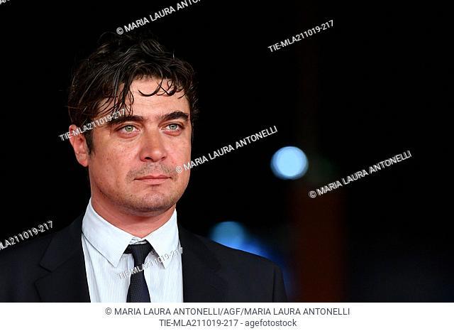 Riccardo Scamarcio during the red carpet of film ' Il ladro di giorni ' at the 14th Rome Film Festival, Rome, ITALY-20-10-2019