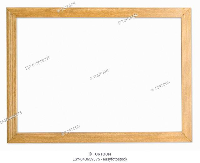 wood frame photo on isolated white background with clipping path