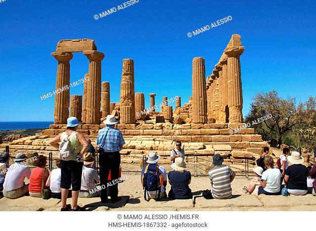 Italy, Sicily, Agrigento, listed as World Heritage by UNESCO, Valley of temples, Temple of Juno