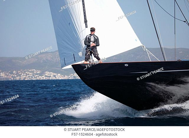 Lionheart in the Superyacht Cup In Palma de Mallorca, Spain