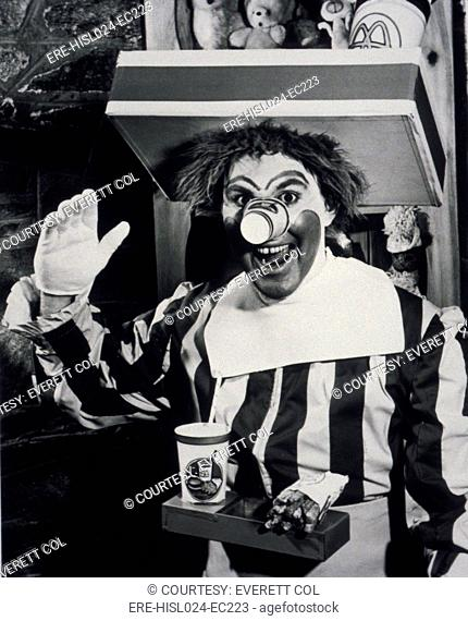 Willard Scott b. 1934 created the character of Ronald McDonald for television advertising of a McDonald's franchise in Washington D.C. from 1963-66