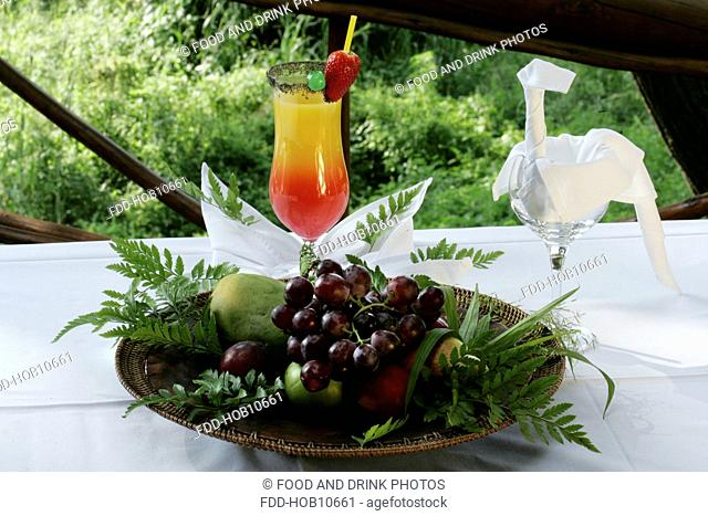 Cocktails at a South African Game Lodge