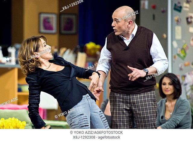 Kalispera telecast, Canale 5 Mediaset, Milan, Italy, 05 01 2011 Alfonso Signorini and Barbara D'Urso