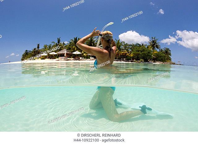 Island, Islands, Beach, Sand, Palm, Palms, Tree, palmy, palm-lined, Sun, Trees, Landscape, Nature, Coast, Ocean, Lagoon, Paradise, paradisal, dream, lonely