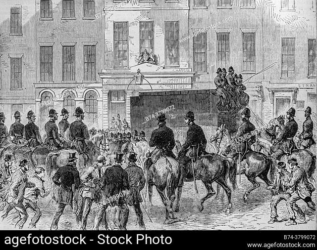 investigation into the explosion of clerkenwell, the illustrious universe, publisher michel levy 1868