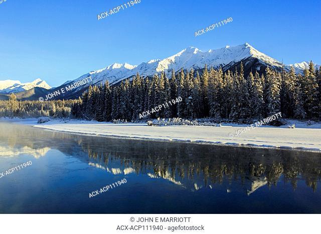 Kootenay River and the Mitchell Range, Kootenay National Park, BC, Canada