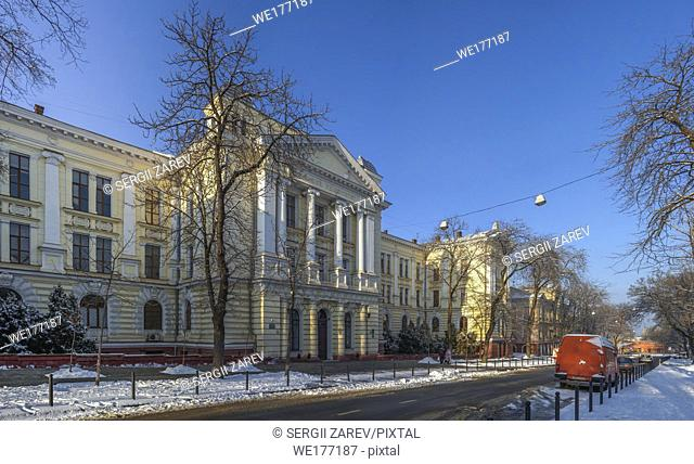 Odessa, Ukraine - 01. 19. 2019. Medical University in Odessa, Ukraine, on a sunny winter day