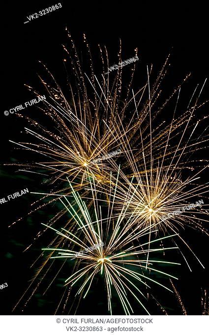 Pre Christmas fireworks celebration, Pennsylvania